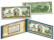 US VIRGIN ISLANDS Statehood $2 Two-Dollar Colorized US Bill Genuine Legal Tender