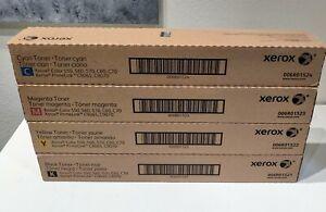 GENUINE XEROX TONER COLOR 550 560 570 C60 C70 COMPLETE SET CMYK NEW