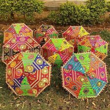 1 Pcs Decorative Indian Hand Embroidered Parasol Vintage Sun Shade Umbrella
