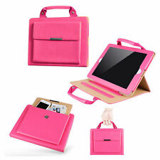 iPad Air Hot Pink Stand Handbag Case with Handle & Storage Compartment