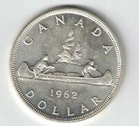 CANADA 1962 VOYAGEUR SILVER DOLLAR QUEEN ELIZABETH II CANADIAN SILVER COIN