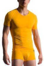 Manstore para hombres M200 Escote en V Camiseta Top Diseñador Colores Viberant