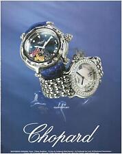 ▬► PUBLICITE ADVERTISING AD Montre Watch CHOPARD Happy sport  2005