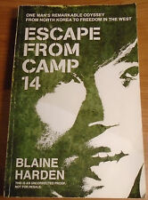 ESCAPE FROM CAMP 14 by BLAINE HARDEN P/B 2012 **PROOF COPY** MANTLE BOOKS