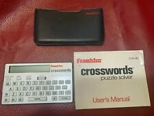 Franklin Crosswords Puzzle Solver Cw-40 w/Wallet Case & Battery New In Package