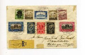 1921 Westungarn R-Brief mit Mischfrankatur Österreich / Ungarn / Westungarn