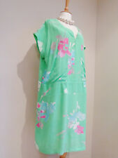 JOULES SPEARMINT GREEN FLORAL AGNES TUNIC DRESS SZ UK 16