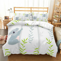 Single/Double/Queen/King Size Bed Duvet/Quilt/Doona Cover Set Linen Koala Tree
