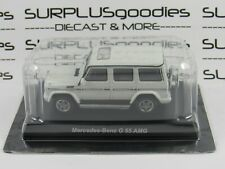 KYOSHO 1:64 Scale White MERCEDES-BENZ G55 AMG G-Wagon G-Class SUV w/Plastic Box