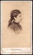 Marie Favart. Photographe Reutlinger. CDV Vers 1872. Comedie Française