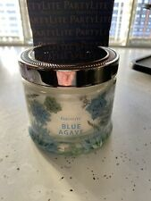 PartyLite 3 Wick Jar Candle Blue Agave