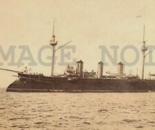 French 3 Funnel 3 mast Battleship Military Montevideo photo postcard X4 Sequence