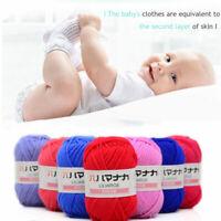 Chic 49 Colors Soft Cotton Bamboo Yarn Crochet Baby Knitting Yarn Knit Wool Yarn