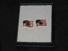 American Flag Square Compass Masonic Cufflinks Shirt Patriotic Freemasonry NEW!
