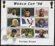 GHANA 1998 - World Cup Football Block - Mint Not Hinged
