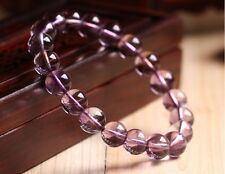 Crystal Round Beads Stretch Bracelet Aaaaa 10mm Natural Purple Amethyst Quartz