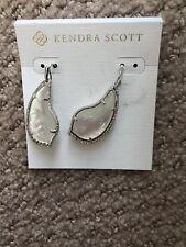 Kendra Scott Tulip Silver Tone Drop Earrings in Mother of Pearl