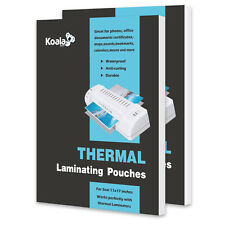 Koala Hot Thermal Laminating Pouches 3 Mil 110 Sheets 115x175 For Seal 11x17