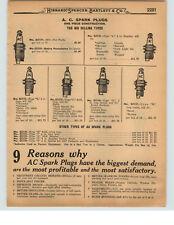 1927 PAPER AD 3 PG AC Champion Kingston Splitdorf Spark Plug Plugs