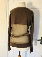 Cashmere & silk Size 10 Brown jumper by Esisto