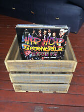 Vinyl Record Crate, Rustic Wooden Storage Crate, Recycled Ash Hardwood Timber
