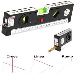 Livella laser 4 in 1 Orizzonte o verticale metro misurazione livella bolla linee