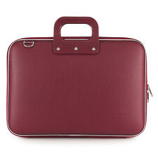 "Bombata - Burgundy Red Classic 15"" Laptop Case/Bag with Shoulder Strap"