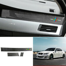 For BMW 5 Series E60 06-10 carbon fiber central console dashboard strips trim