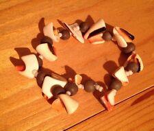 Pretty Boho Shell Bracelet/Stretchy/Natural Shell Pieces/Design/Hippy/Boho/Beach