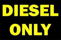 aufkleber sticker auto motorrad mietwagen diesel only