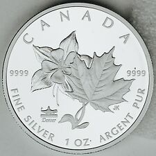 Canada 2017 $5 ANA Denver, CO State Flower The Columbine 1 oz. Pure Silver Proof
