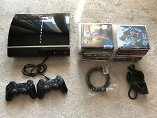 PlayStation 3 PS3 40GB Piano Black CECH-G04  mit org. 2 Controllern und Spielen