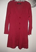 dbc6943a0df Nine West Long Cardigan Sweater Tunic Dress Cable Knit Big Buttons