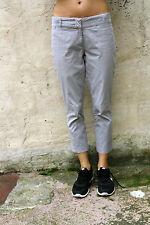 CONTE DI FIRENZE Pantaloni Jeans A RIGHE STRETCH PIRATA W29 essa 42 UK 12 PANTS