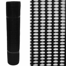60% High Strength Windbreak Fence Fencing Plastic Mesh Crop Net - Black 1m x 30m