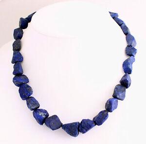Lapislazuli Chain Lapis Lazuli Gemstone Necklace Natural Shape Unique Königblau