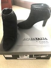 Aquatalia Russell and Bromley Rizzo Dry black suede shoe boots UK4
