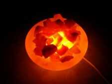 "Authentic LARGE 8"" PINK HIMALAYAN SALT LAMP Fire BOWL"