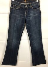 7 For All Mankind Women's Bootcut Jeans Sz 26 Low Rise Dark Wash Stretch Cotton