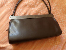 Women Forever 21 Brown Leather EUC small satchel Baguette Handbag Purse vintage