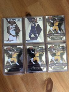 LEBRON JAMES 6 Card Lot Select Concourse 47 Mosaic 8 and 298 LAKERS CAVALIERS
