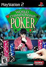 World Championship Poker (Sony PlayStation 2, 2004) w/ Manual