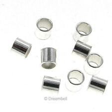 20x Large Sterling Silver Crimp Round Tube Bead Spacer 3mm spb408w