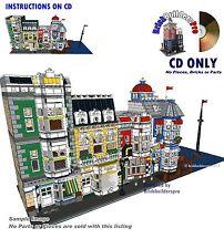 CD Port Seaside, modular Instructions PDF Custom Lego city cafe corner #21