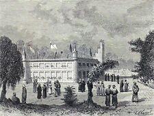 Antique print mausoleum Hazrat Afaq Kashgar 1879