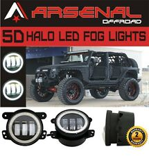 4inch 60W CREE LED Fog Light Driving Lamp White DRL 07-15 Jeep Wrangler JK CJ TJ