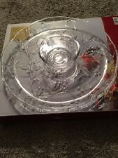 "Mikasa WY521 Seasons Holly Glass 14.5"" Chip And Dip Dish"