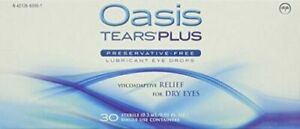 Oasis TEARS PLUS Preservative-Free Lubricant Eye Drops, 30 containers, 0.3...