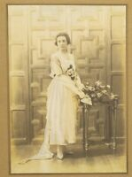 1900s Edwardian Bride Photograph Young Lady Portrait Vintage Retro SPEAIGHT