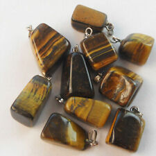wholesale tiger eye Natural gemstone stone Silver P Pendants Bead 3pcs FREE